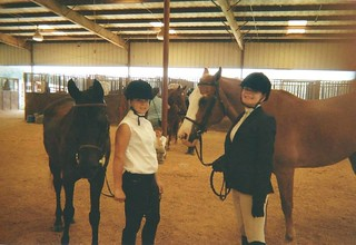 Sara (right) and Sunny, Writing Dressage