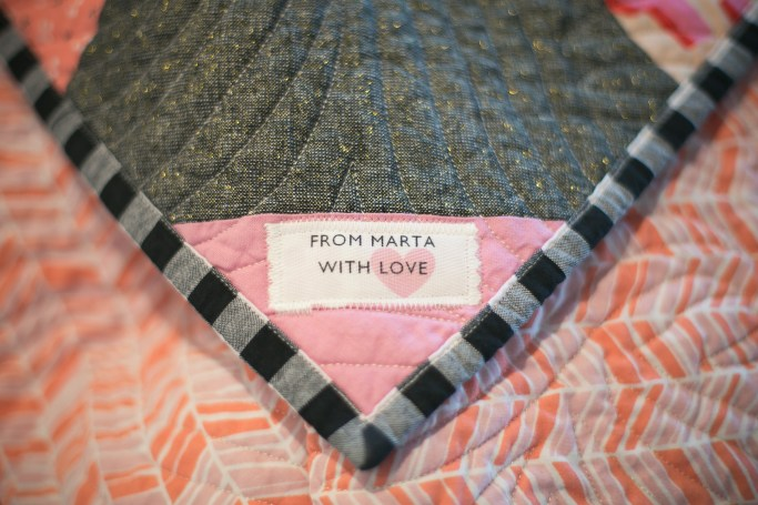 from Marta with Love | quilt label