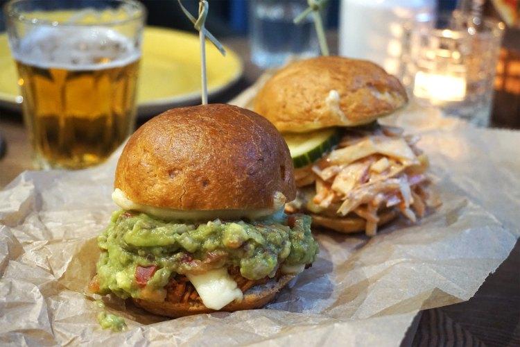 Beyond Bread Islington gluten free sliders and beer / dinner menu