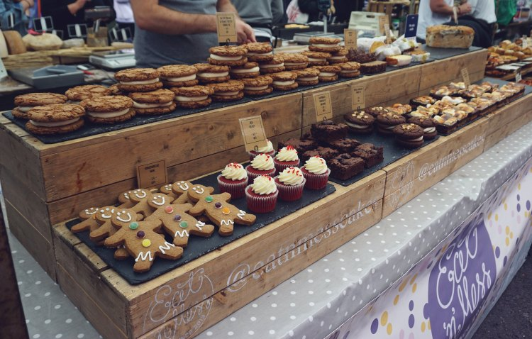 Gluten free treats from Eatnmess stall | gluten free Broadway Market guide | Hackney, London