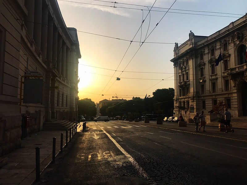 sunset from the streets of ancona