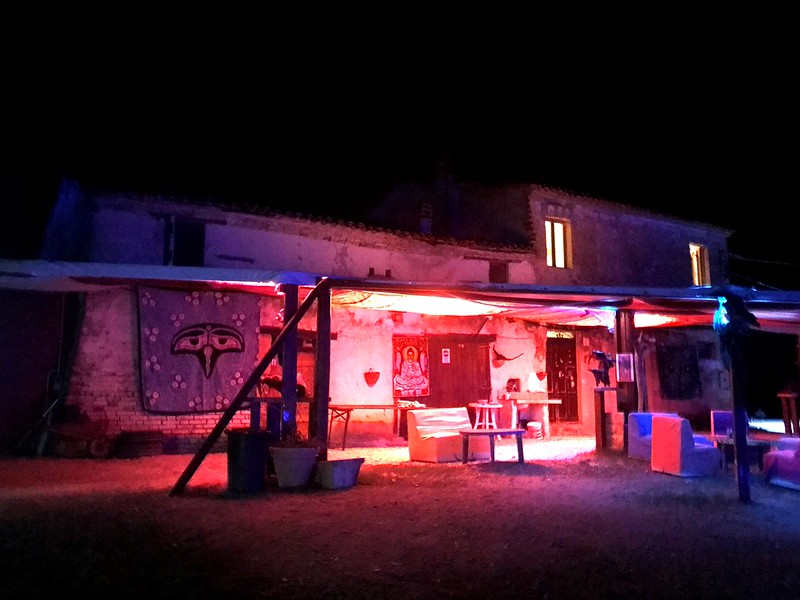hut at blackmoon festvail 2017 in marche italy