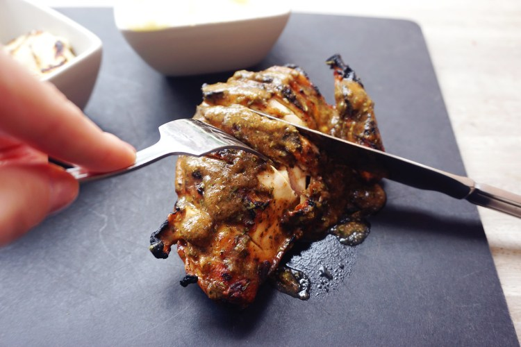 Roosters Piri Piri grilled chicken with Lebanese sauce | gluten free friendly restaurant chain | London + UK
