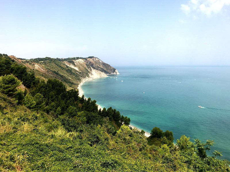 Beautiful view of the Adriatic coast from the slopes of Mount Conero