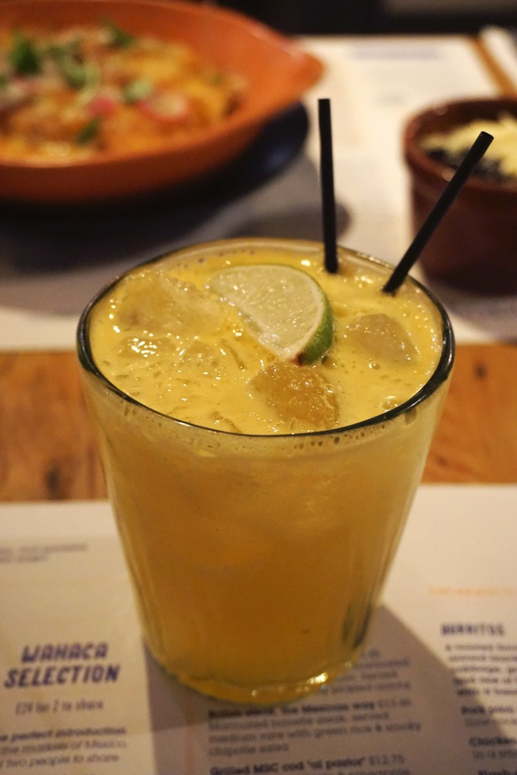 Passion fruit margarita from Wahaca | gluten free Mexican restaurant | London + UK