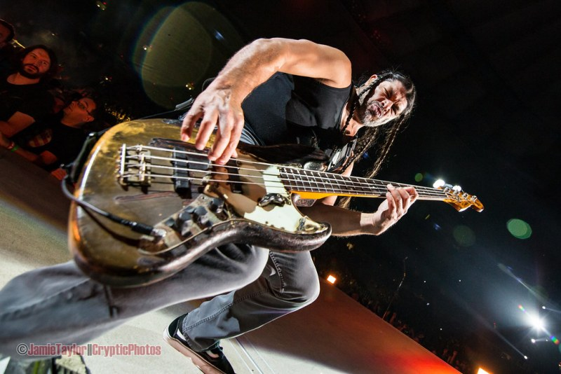Robert Trujillo of Metallica at BC Place in vancouver, BC on August 14 2017