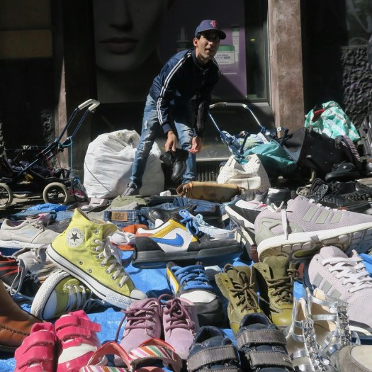 Shoe Salesman with Shoes