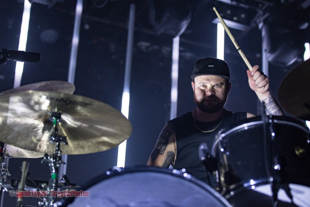 Ben Thatcher of Royal Blood at The Commodore Ballroom in Vancouver, BC on August 8th, 2017