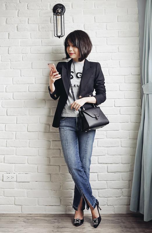▌Outfit ▌ Nordstrom周年慶戰利品分享:Rails襯衫 + Frame Le Nouveau Split Hem Jeans + BlankNYC平價皮衣+ shopbop大量單品下折扣