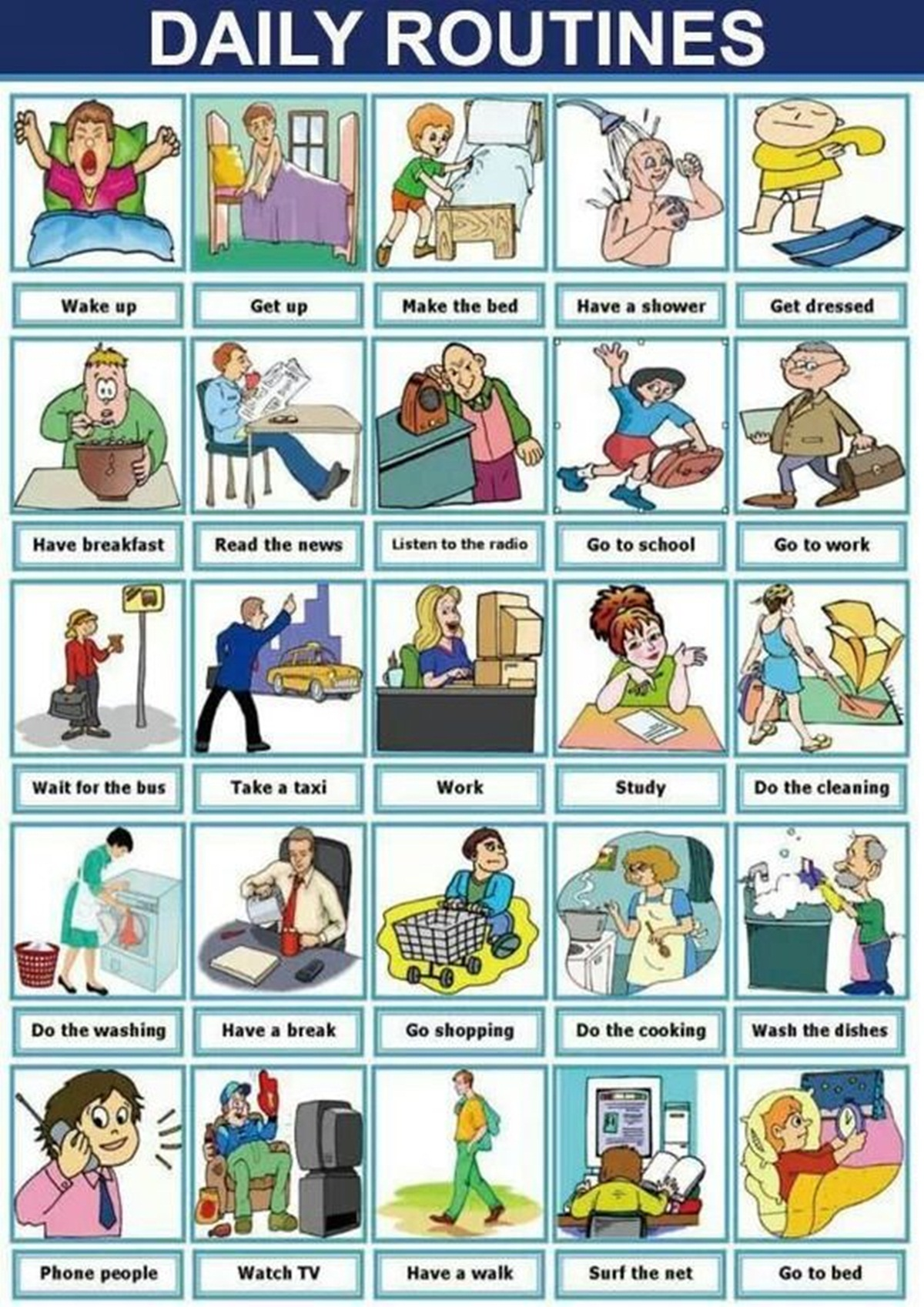 Vocabulary Daily Routines Amp Activities
