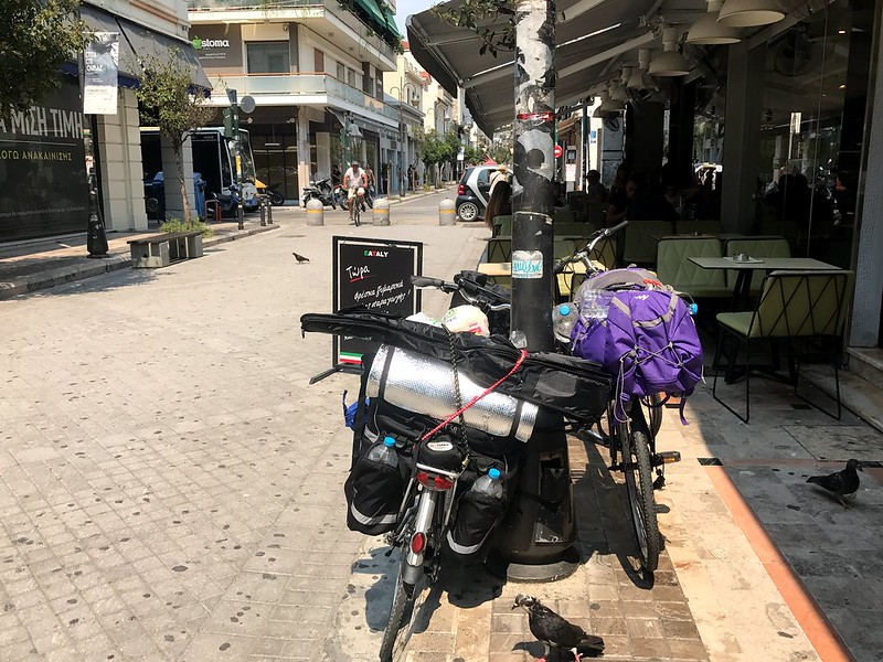 fully loaded bicycles for cycling trip