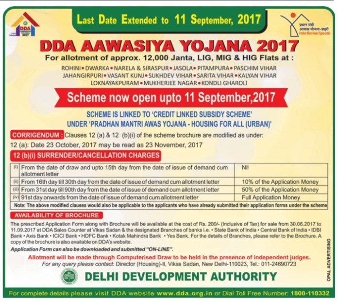 dda housing scheme 2014 forms available banks