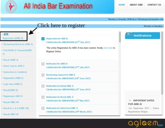 AIBE 2018 Registration / Application Form (Available) - Apply Online Now  %Post Title | AglaSem