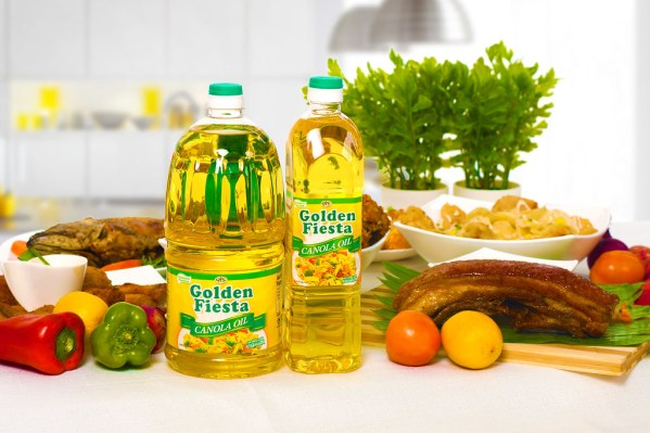 Reduce your body's cholesterol level by up to 15 percent by choosing Golden Fiesta Canola Oil, made possible by its phytosterol content.