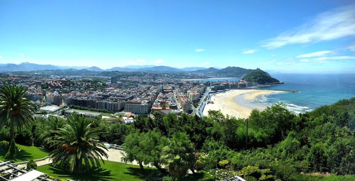 San Sebastian looks gorgeous in the sunlight, especially from any of the hills around.