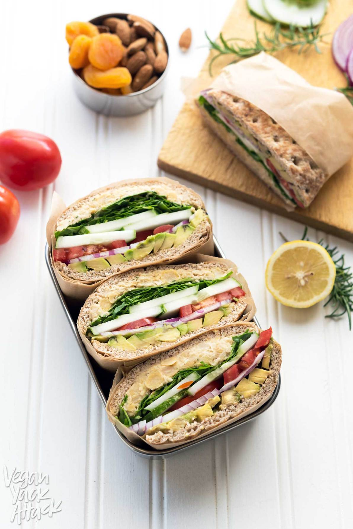 Rosemary Chickpea Salad Sandwich