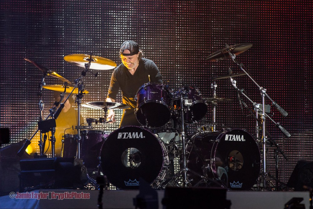Lars Ulrich of Metallica at BC Place in vancouver, BC on August 14 2017