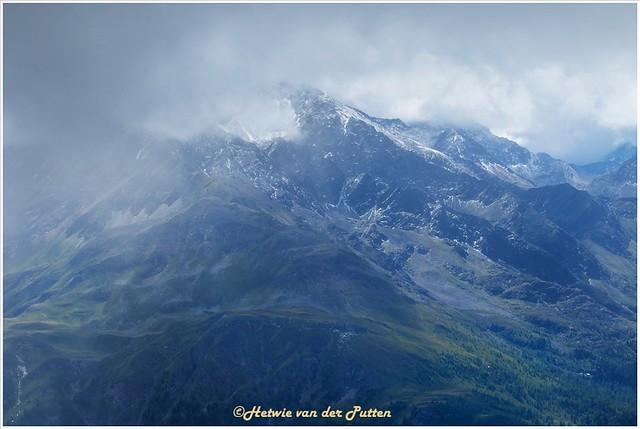 Machtig uitzicht op de Alpen.