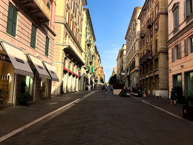 central street of ancona