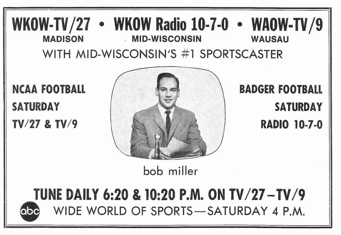 WKOW featuring Bob Miller - 1969