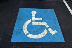 handicap, ada, parking space, parking, wheelchair