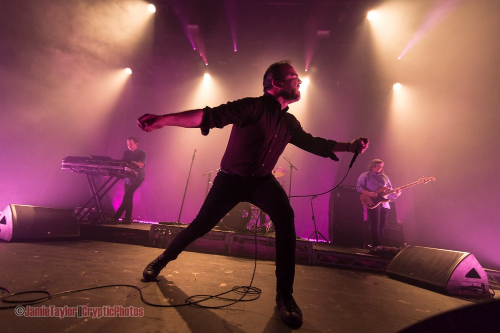 Samuel T Herring of Future Islands at The Vogue Theatre in Vancouverm BC on September 24th 2017