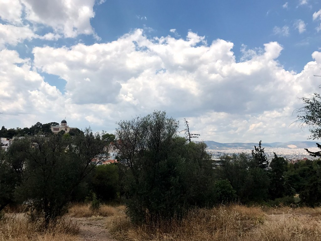 view of athens from philopappos hill