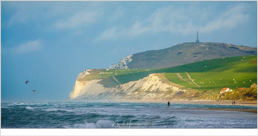Een weekend aan de OpaalkustCap Blanc Nez, gezien vanaf het strand van Wissant (EF100-400L II @ 400mm   ISO100   f/11   1/200)