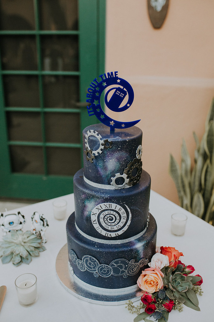 Doctor who themed wedding cake   I love you through time and      Flickr     Doctor who themed wedding cake   by jennywenny