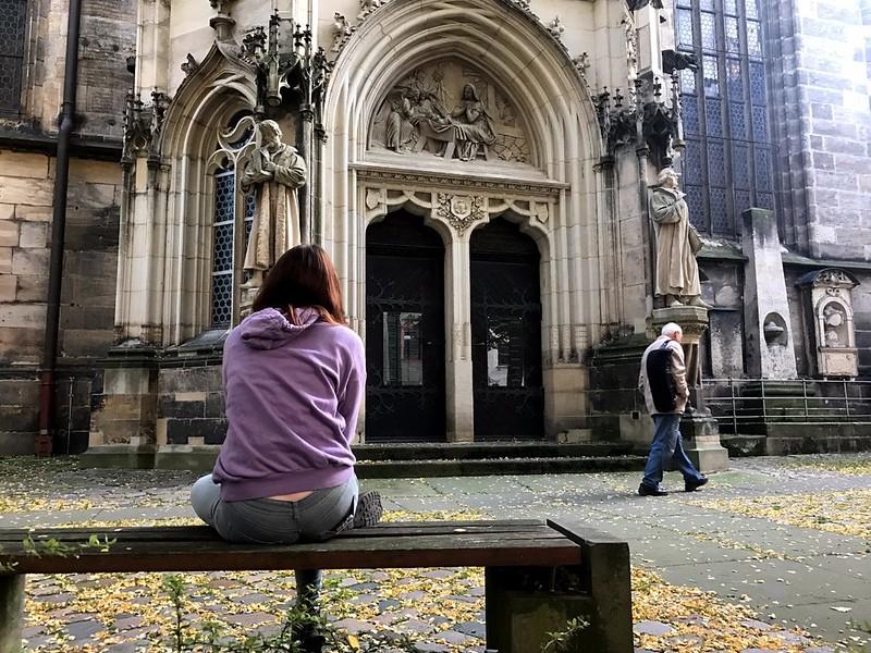 gothic temple in pirna town in saxon switzerland