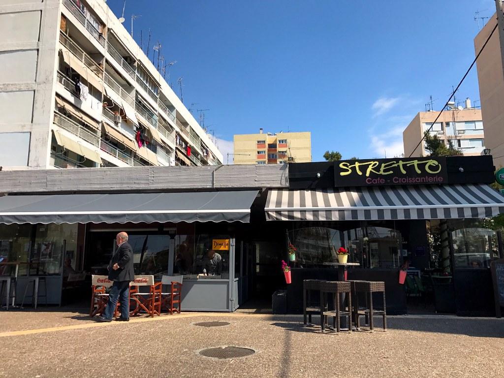 stretto cafe in peristeri square in athens
