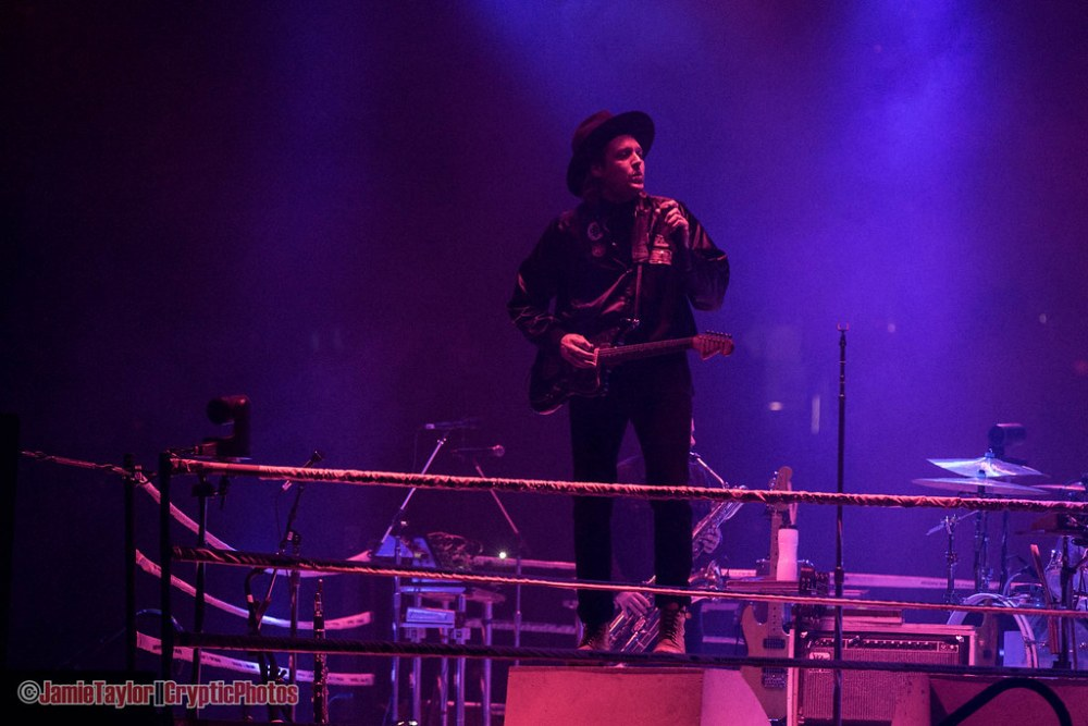 Win Butler of Arcade Fire at Pacific Coliseum in Vancouver, BC on October 14th 2017