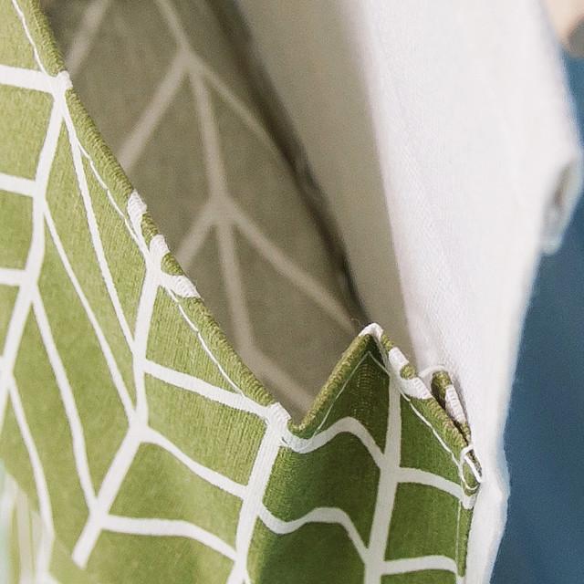 Giỏ treo trang trí bằng vải linen phong cách vintage