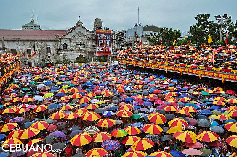 Devotees at the Basilica