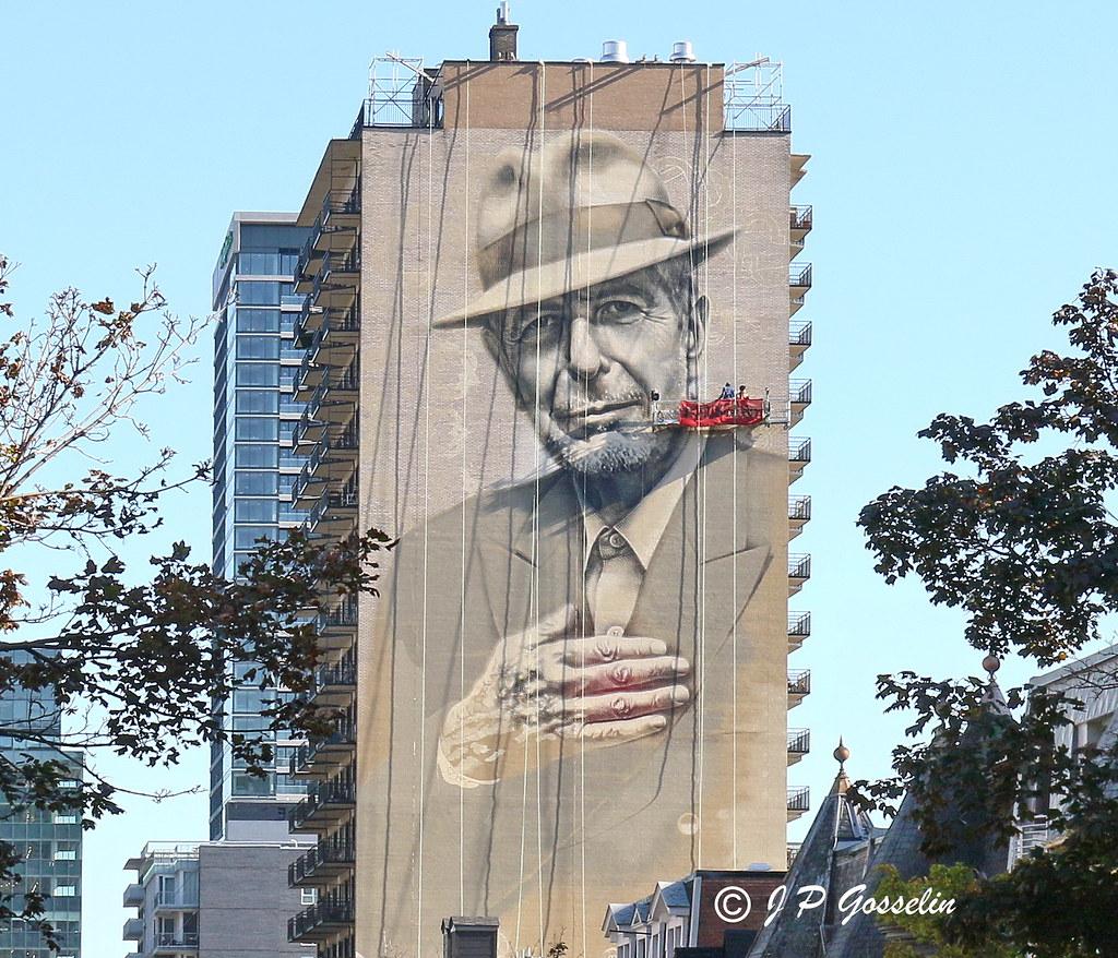 Leonard Cohen Mural Tribute Artist Gene Pendon Aka G