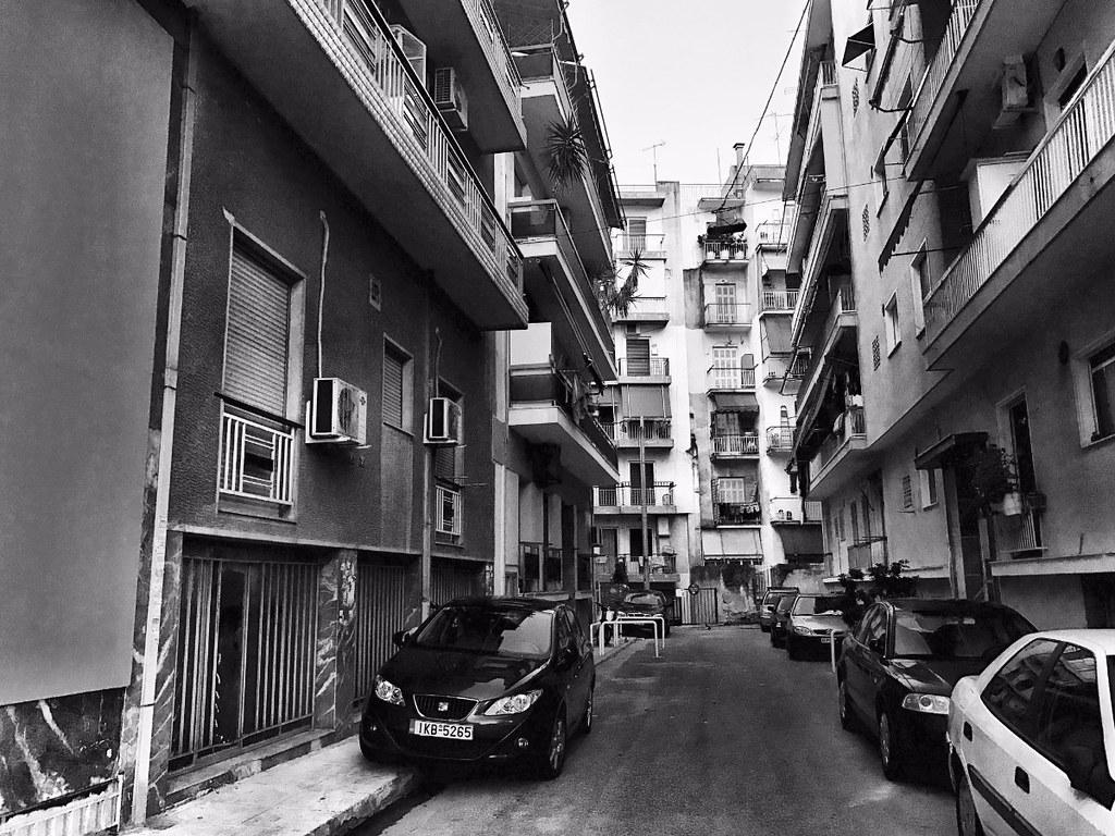 athenian neighborhood black and white