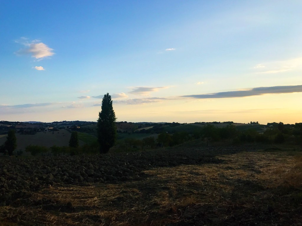 sunrise over italian countryside