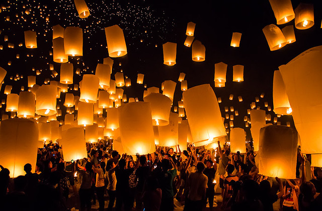 Yee Peng Festival Lantern Release