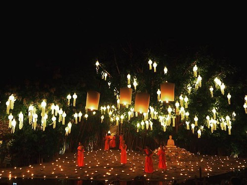 Yee Peng Lantern Festivals in Chiang Mai