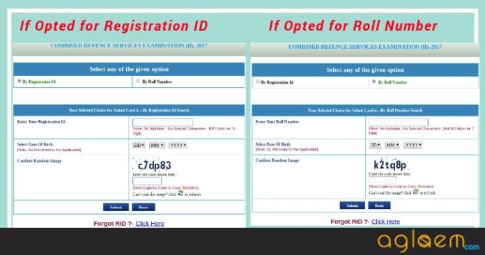 CDS 1 Admit Card