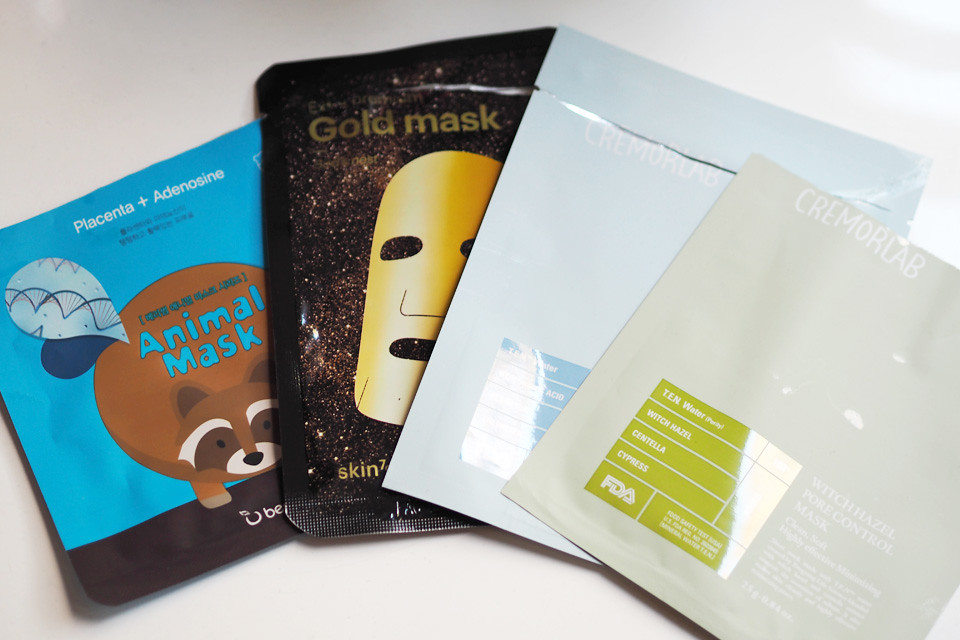 marraskuun loppuneet roskat sheet masks
