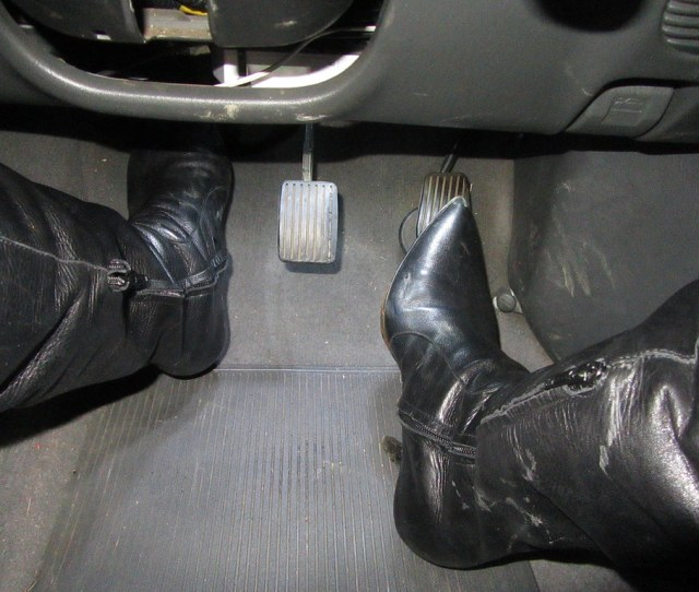 Revving And Pedal Pumping In My Leather Over Knee Stiletto Boots By Thighhighbooted Guy