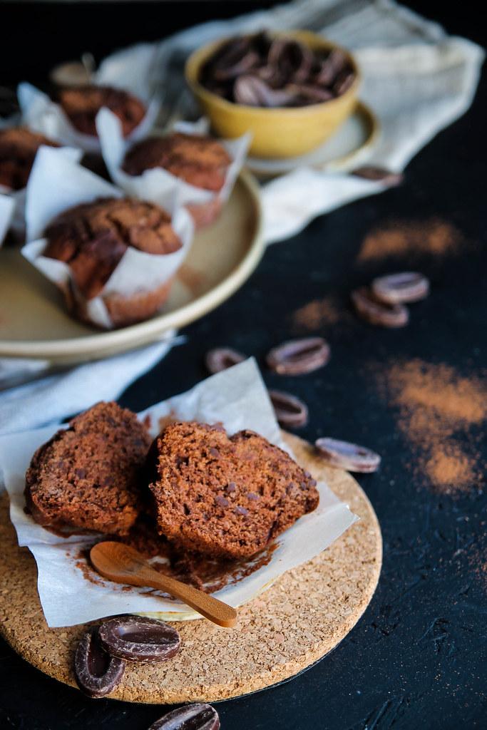 Muffins tout chocolat sans gluten