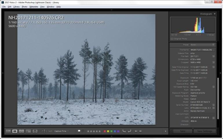 sneeuwfoto's maken en bewerken door nandoonline