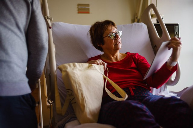 Reading the post-surgery materials