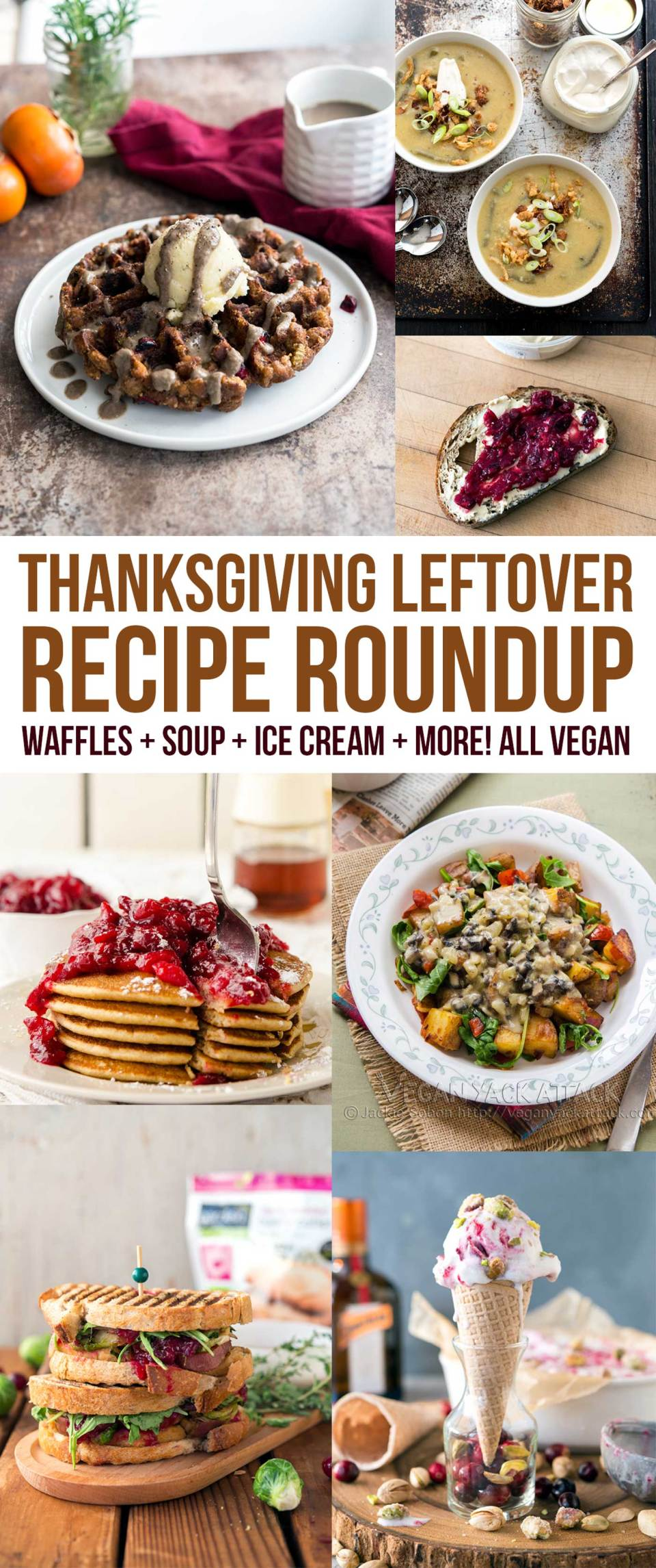 Looking for Thanksgiving Leftover Recipe Ideas? I've got you covered with these delicious dishes ranging from simple to fully-transformed! #Vegan