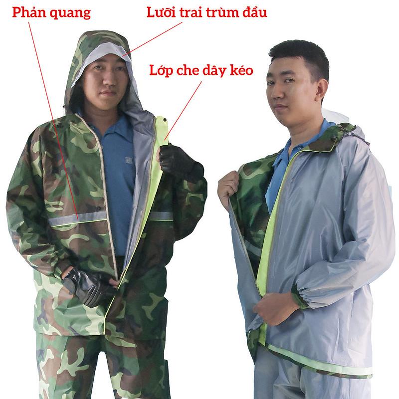 Bộ áo mưa 2 lớp cao cấp Cần Thơ