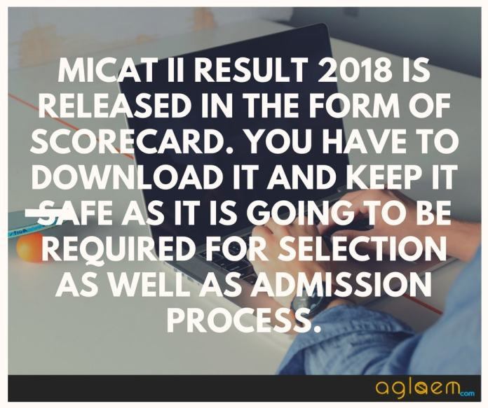 MICAT 2018 Result