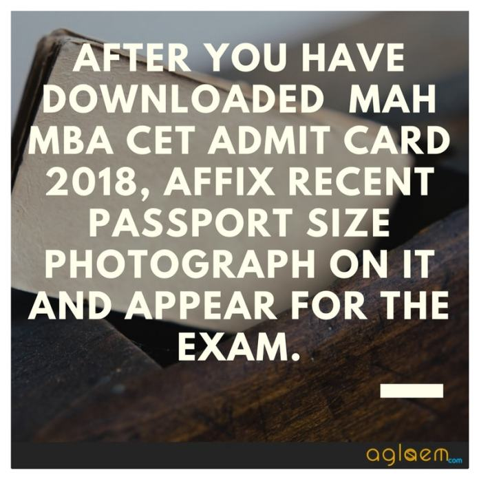 MAH MBA CET 2020 Admit Card