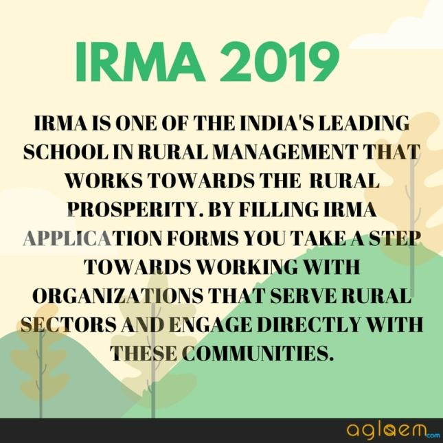 IRMA 2019 Application Form - Eligibility, Fee, Process, Test Centres  %Post Title, %Post Category, AglaSem